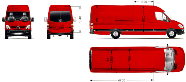 Mercedes-Benz Sprinter - skříň - vozový park Eim Express, s. r. o.